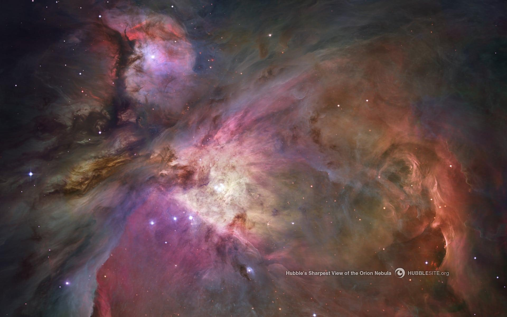 The Orion Nebula as seen by the Hubble Telescope